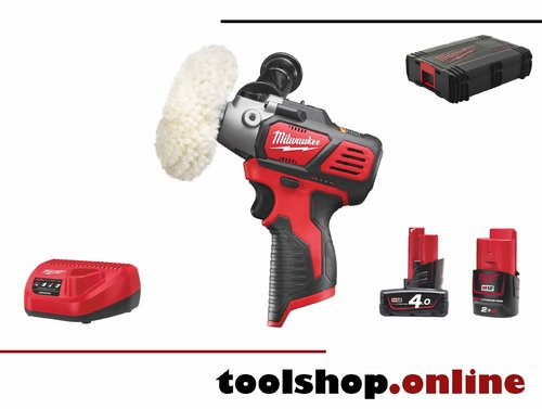 Milwaukee M12 BPS-421X 12V Akku-Mini Polierer, 1x4.0Ah Akku, 1x 2Ah Akku, Ladeg, HD-Box 4933447799