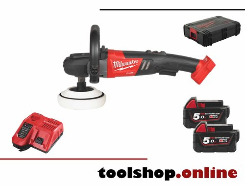 Milwaukee M18 FAP180-502X 18V FUEL Akku-Polierer inkl. 2x 5Ah Akku&Ladeg. in HD-Box 4933451550