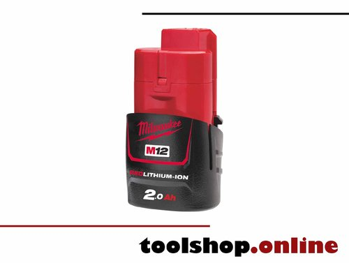 Milwaukee M12 B2 12V Li-Ion Akku 2.0 Ah 4932430064