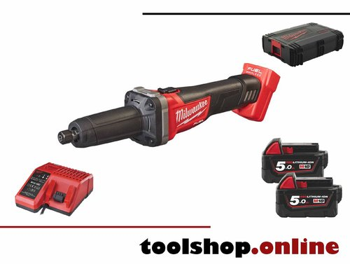 Milwaukee M18 FDG-502X FUEL Akku-Geradschleifer, 2x5Ah Akku und Ladeg. in HD-Box 4933459107