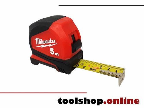 Milwaukee Pro-Compact Bandmaß 5m, Bandbreite 25mm 4932459593