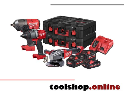 Milwaukee M18 FPP3AB-533P Set: FPD2, FHIWF12, CAG125X, HB3, 2xHB5.5, M12-18FC, 2x Packoutbox